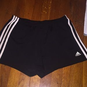 Black adidas draw string shorts
